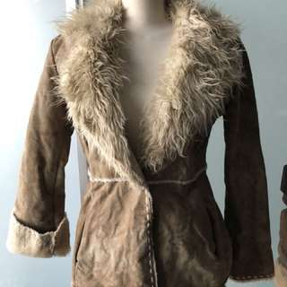 Guess fur and suede jacket