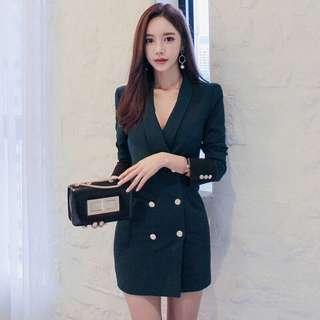 [PRICE REDUCED] Korean long blazer dress