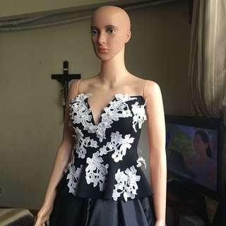 Black tube ballgown for rent