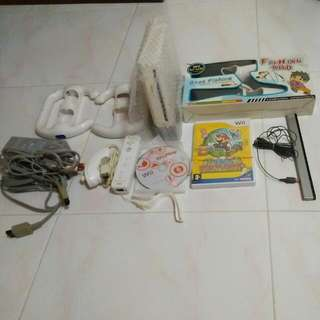 Wii, Console, Full Set, Mario Paper Unused
