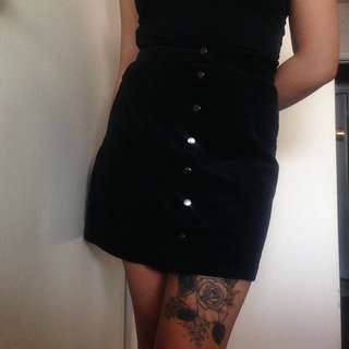 F21 Button Up Skirt