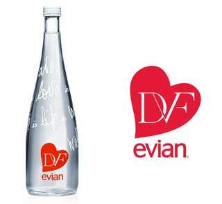 Diane von Furstenburg Evian Water