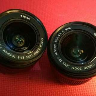 Lensa Kit Canon 18-55mm STM bekas Batu Malang