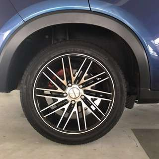 "WTT 17"" Car rim pcd 114.3/5 with Tyres"