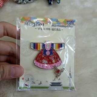 Korea hanbok magnet