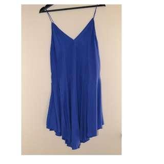 Zimmermann electric blue silk dress