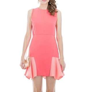 Coral Blush Peony Pink Dress