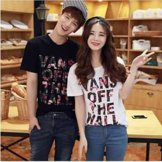 💋Letter Floral Cotton Couple Set