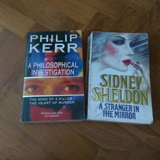 Set of 2 books Sidney Sheldon Philip Kerr