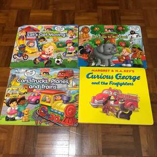 Fisherprice and curious George book
