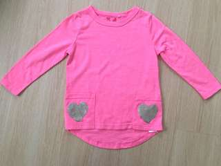 Bright Pink Hearts Top