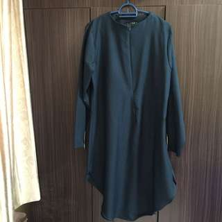 MIGHTY MARCH'18 SALE- DEEP GREEN LONG TUNIC