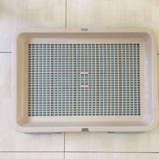 Indoor outdoor Dog Pee Tray Toilet with mesh plate training
