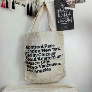 American Apparel canvas tote bag