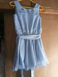 Periwinkle Flowing Dress (Powder Blue)