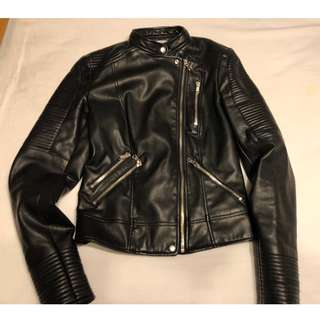 Zara: Leather Jacket... Size XS