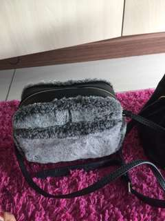 Charles n keith original sling fur