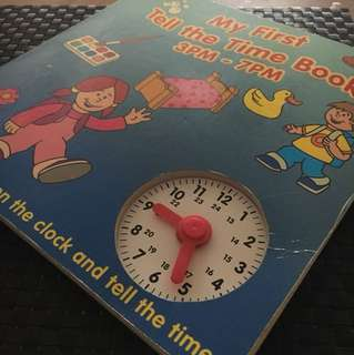 My first tell the time book3pm-7pm