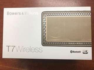 99新 B&W 藍芽喇叭 T7 Wireless