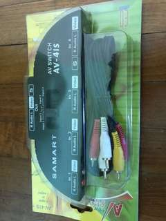 Av switch 1 to 4 ports model AV-41S