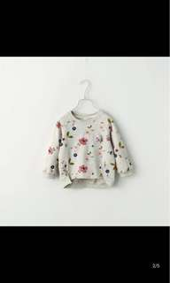 *Price Reduced* Girls Flora Top/Pullover