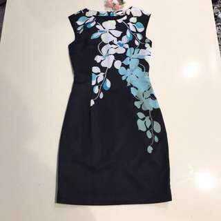 Karen Millen Floral Vine Pencil Shift Dress Cut Label [Coast, Phase8, Ted Baker, Warehouse, Oasis, forever new]