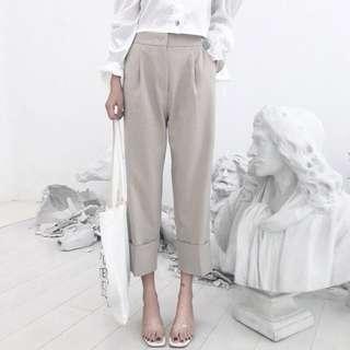 🚚 全新🕴🏻高腰顯瘦寬鬆西裝褲-M