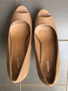 Amante Beige Shoes. 15cm Heels. Rarely used. Spare Sole available.