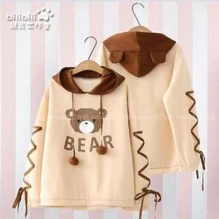💁🏻Korean Hoodie Jacket🔥(Bear)