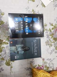2 Brand New Book combo (thrillers) Stranger in the House and The Sinner