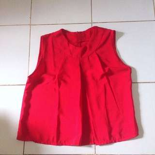 👩🏼Blouse Red Top