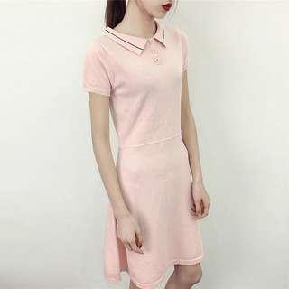 <P.O> Ladies Polo Shirt Knit Dress