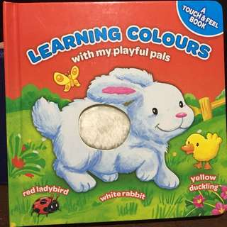 Touch and feel book - Learning Colors