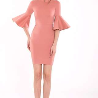Double Woot blush bodycon dress in L size