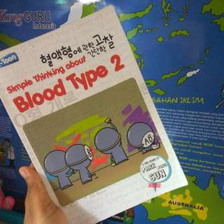 Buku Simple Thinking About Blood Type 2 - Park Dong Sun