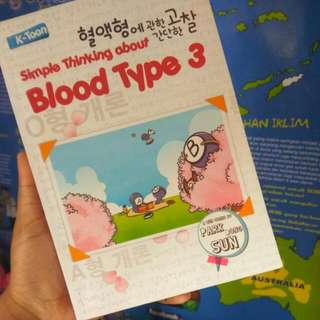 Buku Simple Thinking About Blood Type 3 - Park Dong Sun