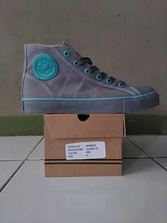 Sepatu Warrior Classic Grey Green Original