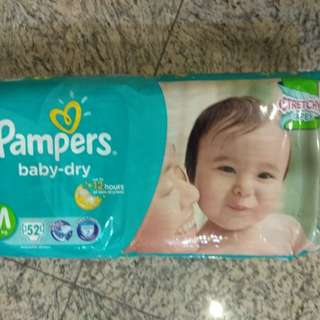 BN 3 packs pampers dry m size