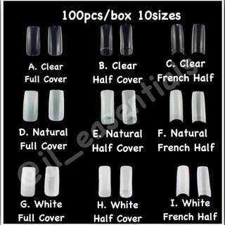 100 PCS Acrylic Nails with Glue