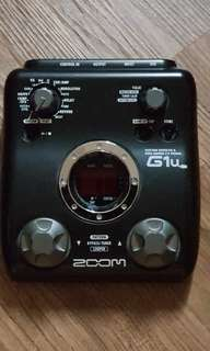 G1 u series ZOOM guitar effect and audio pc recording