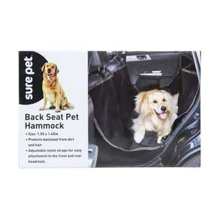Car seat hammock for dogs or pets