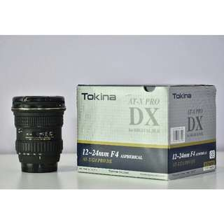 Tokina 12-24mm F4 wide lens (Like New)