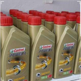 Promotion Engine Oil Servicing With Castrol 4T Oil