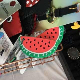 Cute watermelon bag luggage tag