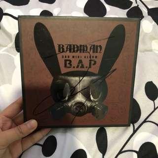 Signed Badman Album