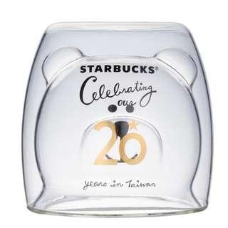台灣星巴克 starbucks 20週年 熊仔玻璃杯 [星巴克]歡慶20Bearista雙層玻璃杯