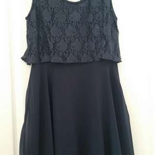 Boohoo navy dress