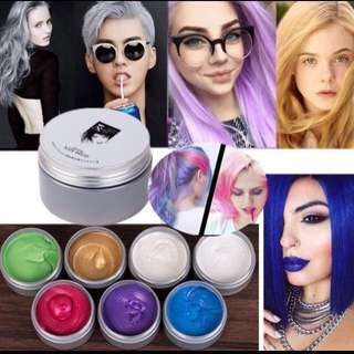 Colors Temporary Hair Dye Cream DIY Hair Color Wax Mud Harajuku Style Hair Color
