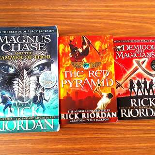 3 for $15: Magnus Chase and the Hammer of Thor; The Red Pyramid; Demigods and Magicians ~ by Rick Riordan (Creator of Percy Jackson)