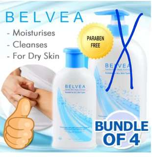 👍👍BELVEA Gentle Skin Wash 4x 250ml (All in 1 wash) w free Courier delivery